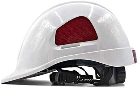 Rui Peng 安全性 ハード帽子 - ABS構造の衝突防止換気用キャップ労働保険電気技師用ヘルメット - 「保冷」換気用ヘルメット、完全に調整可能、キャップスタイル - エンジニアリングヘルメット (Color : White)