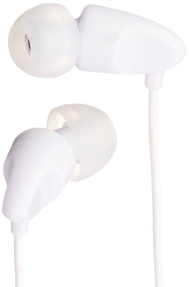 AmazonBasics In-Ear Headphones with universal mic (White)