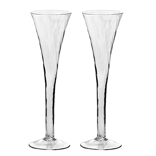 Ivy Lane Design Swirl Toasting Flutes, Set of 2