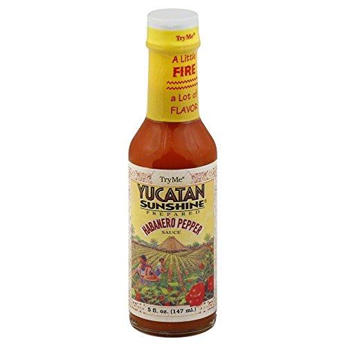 Try Me Yucatan Sunshine Habanero Pepper Sauce, 5-Ounce Bottles(Pack of 6)