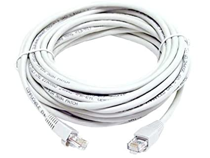 FYL WHITE 50 FEET XBOX 360 PS3 ETHERNET CAT 5 CAT5 CABLE RJ45 Network PC Laptop