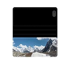 Karakórum Mountains and Glacier wirsberg Funda con Tapa con tarjetero y compartimento para billetes iPhone 4 4S 5 5S 6 6S/Samsung S3 S4 S5