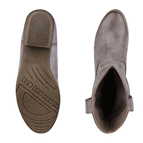 napoli-fashion - Bottes de cowboy Mujer gris