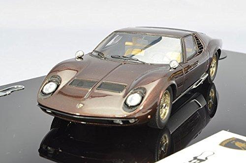 1/43 ランボルギーニ ミウラ P400 1967 ワイヤーホイール V12エンジン付 (メタリックブラウン) EM284F