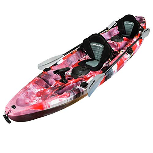 Perth 3.7m Eagle Double Fishing Kayak Package  Red Camo