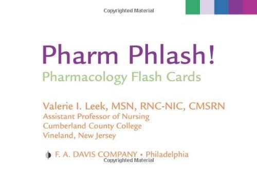 Pharm Phlash!: Pharmacology Flash Cards Pdf