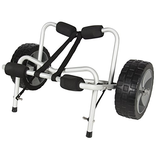 Best Choice Products SKY1251 Boat Kayak Canoe Carrier Dolly Trailer Tote Trolley Transport Cart Wheel