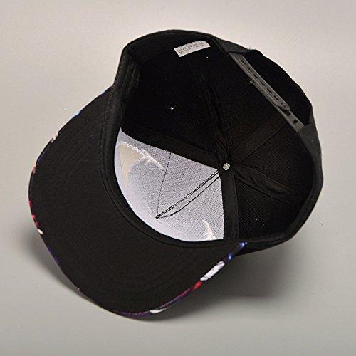 815d09e2bddf2 Xuzirui Venom Spider Hip Hop Hats Cool Flat Eaves Baseball Hoods Cotton Cap  Snapback Hat (Black)  Amazon.in  Clothing   Accessories