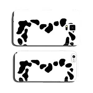 Frame heart of cow spots vector illustration. cell phone cover case Samsung S5