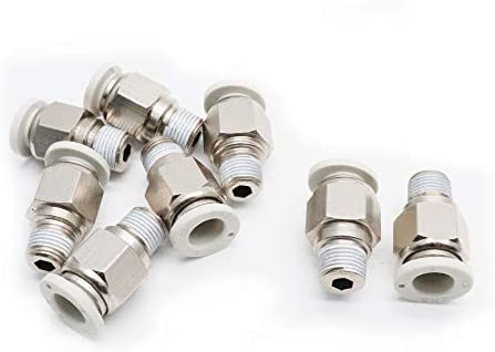 """8Pcs Push in to Connect Pneumatic Elbow Fitting 1//8/"""" PT x 5//16/"""" Tube"""