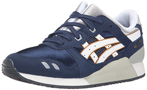 ASICS Gel Lyte III GS Running Shoe , Navy/White, 5.5 M US Bi