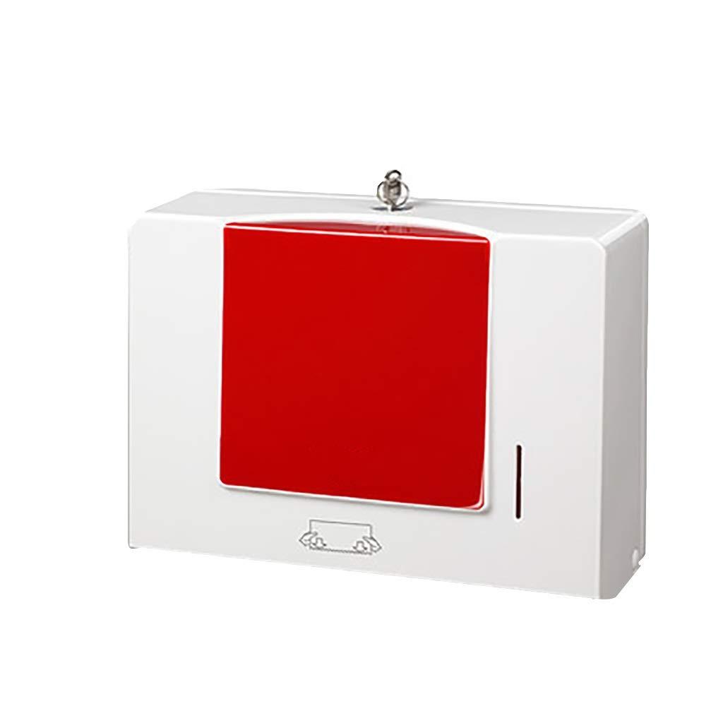 MAHONGQING Punch-Free Wall Hanging Paper Towel Box Kitchen Towel Box Waterproof Shelf (Color : C)