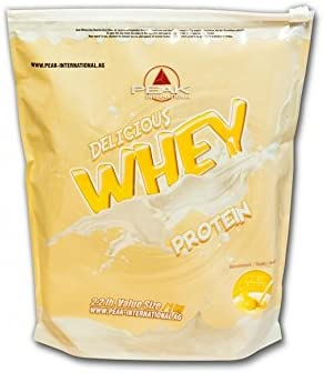 PEAK INTERNATIONAL Delicious Whey Protein, 1 kg Beutel, Vanilla Ice Cream