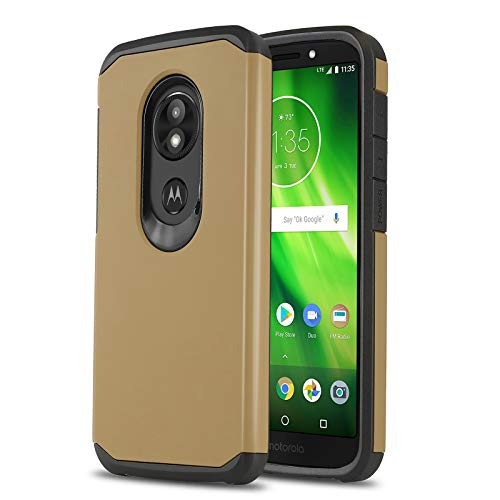 Phone Case for [Motorola Moto E5 (XT1920DL)], [DuoTEK Series][Gold] Shockproof Cover [Impact Resistant][Defender] for Moto E5 (Tracfone, Simple Mobile, Straight Talk, Total Wireless)