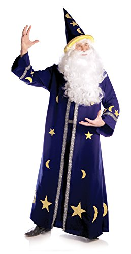 Underwraps Men's Spell Master, Blue/Yellow, One (Wizard And Sorcerer Costumes)