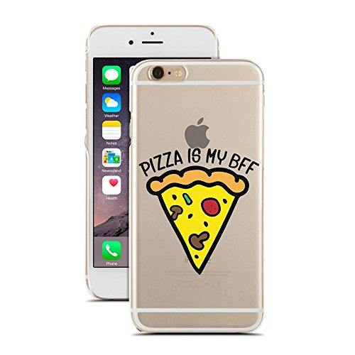 Pizza is My BFF - Pizza Queen - Best Friend Forever - Funny Transparent Case - for iPhone X - Super Slim Case