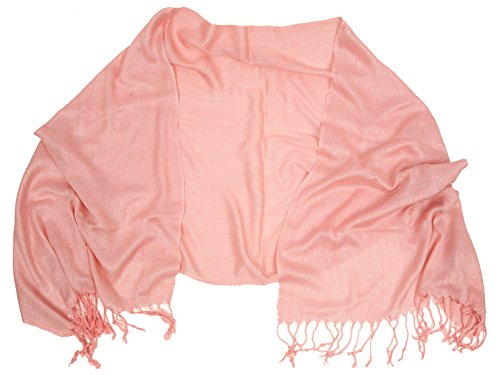 Love Lakeside-Womens Metallic Sparkle Wrap Scarf (One Blush Pink)