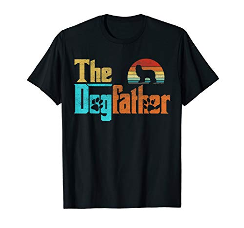 Vintage The Dogfather Bearded Collie Fun Dog Owner Tee