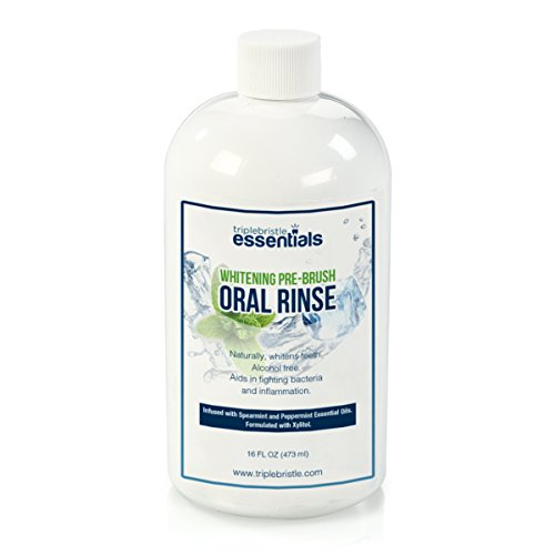 Triple Bristle Whitening Pre-brush Oral Rinse Cleanser - Gently Cleans & Refreshes Mouth Neutralizes Bacteria - Fresh Breath Alcohol-Free PerioTherapy - Oxygenating Agent Formula - Dentist recommended (Gum Periotherapy Oral Care Rinse)