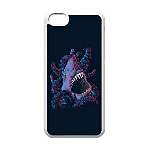 iPhone 5c Cell Phone Case White shark x octopus DKQ Design 6D Case