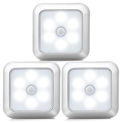 URPOWER Motion Sensor Light, Motion Sensor Closet Lights Battery Operated Stick-on Anywhere Wireless Night Lights Magnetic Motion Sensor Security closet Light for Stairway Closet