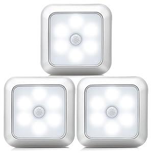 URPOWE Motion Sensor Light, Motion Sensor Closet Lights Battery Operated Stick-on Anywhere Wireless Night Lights Magnetic Motion Sensor Security closet Light for Stairway Closet
