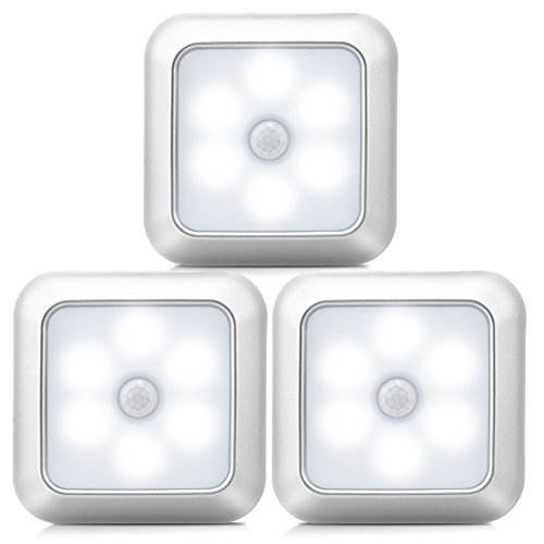 URPOWER Motion Sensor Light, Motion Sensor Closet Lights Battery Operated Stick-on Anywhere Wireless Night Lights Magnetic Motion Sensor Security closet Light for Stairway Closet