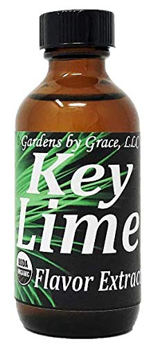 Organic Flavor Extract Key Lime | Use in Gourmet Snacks, Candy, Beverages, Baking, Ice Cream, Frosting, Syrup and More | GMO-Free, Vegan, Gluten-Free, 2 oz