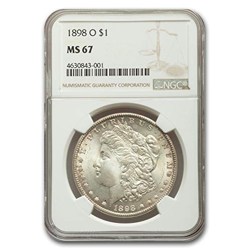 1898 O Morgan Dollar MS-67 NGC $1 MS-67 NGC