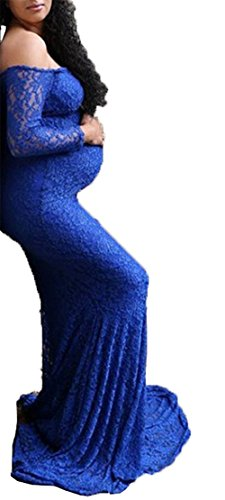 fitted blue lace dress - 9