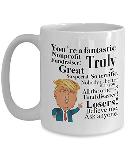 Donald Trump Coffee Mug - Tea Cup Gift Ideas for Nonprofit Fundraiser Birthday Christmas President Conservative Republican