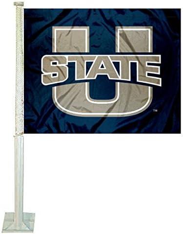 Utah State Aggies Car and NCAA Auto Flag