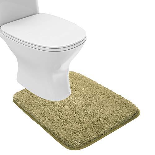Suchtale Bathroom Contour Rug Non Slip Bath Mat Water Absorbent Soft Microfiber Shaggy Bathroom Mat Machine Washable…