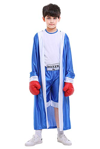 COSMOVIE Little Boys' Boxer Costume Boxing Suit For Kids -