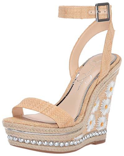 Jessica Simpson Women's ALINDA Wedge Sandal, Natural, 8 M US
