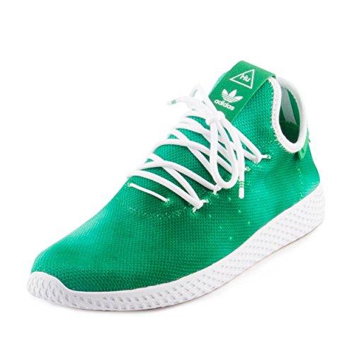 adidas Originals Men's PW Holi Tennis Hu Running Shoe, Green White, 11.5 M US ()