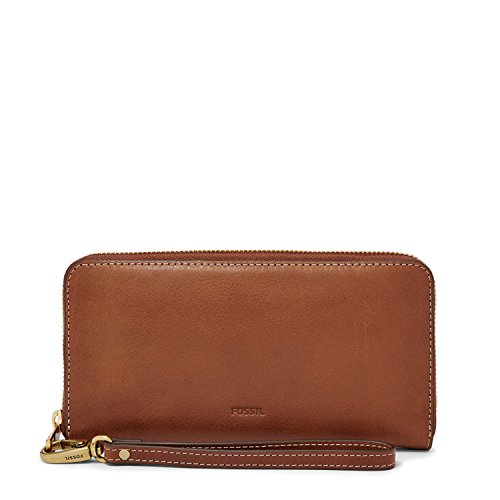 Fossil Women's Emma RFID Large Zip Clutch Brown SL7153200 … by Fossil