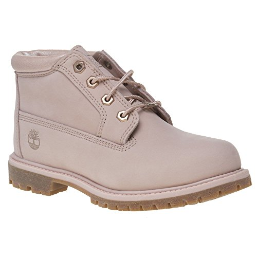 Timberland Women's Nellie Chukka A1K9C Nubuck Ankle Boot Cameo Rose-Rose-5.5