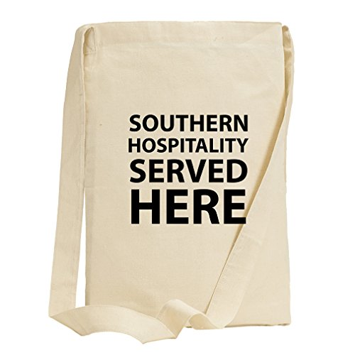 Southern Hospitality Served Here Canvas Sling Tote Bag