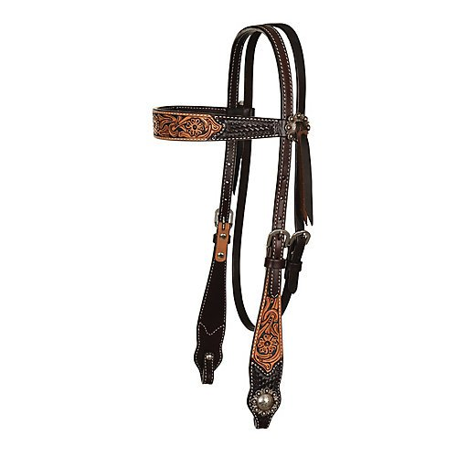 Circle Y Floral Painted Inlay Browband Headstall Circle Y Leather Saddle