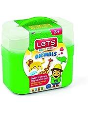 LETS Modelling Dough Animals Set - 4 Dough + 8 Pcs Accessories