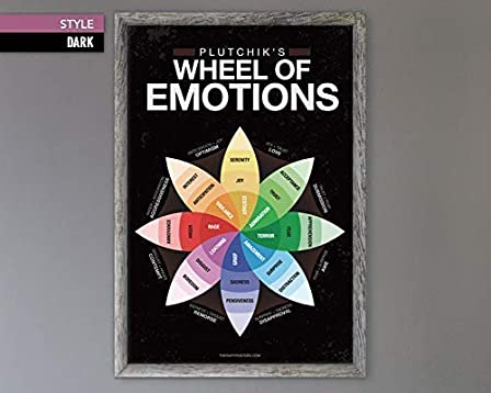 Robert Plutchik 2 Styles Plutchiks Wheel of Emotions Mental Health Therapy Poster Wall Art Counseling Inspirational Feelings Posters