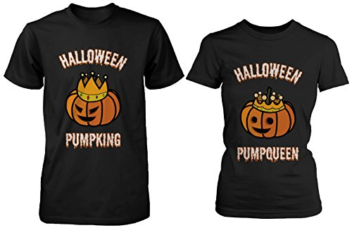 365 Printing Halloween PumpKing PumpQueen Matching Couple Shirts Horror Night (His And Hers Halloween Shirts)