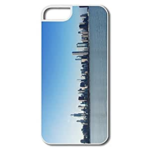 IPhone 5 Case, Chicago Daylight Covers For IPhone 5S - White Hard Plastic