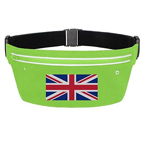 Waist Pack Bag United Kingdom Flag Running Belt Ultrathin Hide Purse Adjustable Waterproof Outdoor