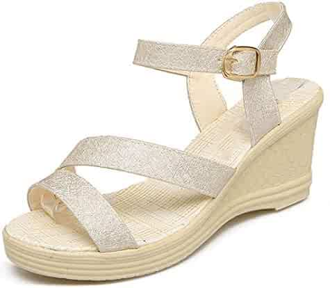 6a9a17a463c3f Shopping Multi or Gold - Platforms & Wedges - Sandals - Shoes ...