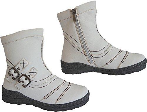 Winter Damen Stiefel Schuhe Boots Stiefelette art.nr.3857 Weiß