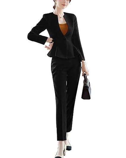 ShiFan Blazer Mujer Elegantes Trajes De Chaqueta Y Pantalon ...
