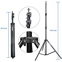 Photography Background Stand, Emart 9.2 x 10Ft Heavy Duty Adjustable Backdrop Support System Kit for Photo Video Studio