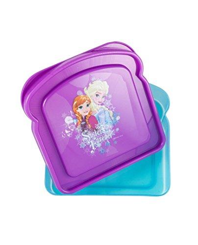 Disney Reusable, BPA-Free Sandwich Box, Frozen Purple, 2-pack (Wholesale Disney Products)